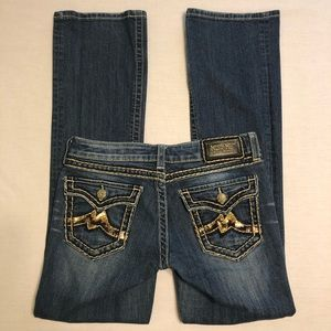 Miss Me Boot Cut Jeans - Bling / Embellished